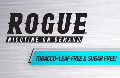 Rogue Nicotine On Demand Logo - Tobaco-Leaf Free & Sugar Free