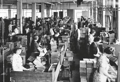 retro image of swisher factory