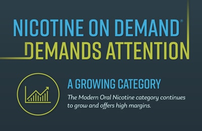Nicotine On Demand Demands Attention Growth Infographic