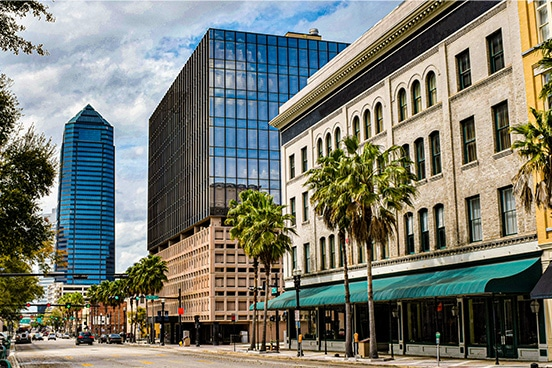 Street view of Swisher HQ in downtown Jacksonville, FL