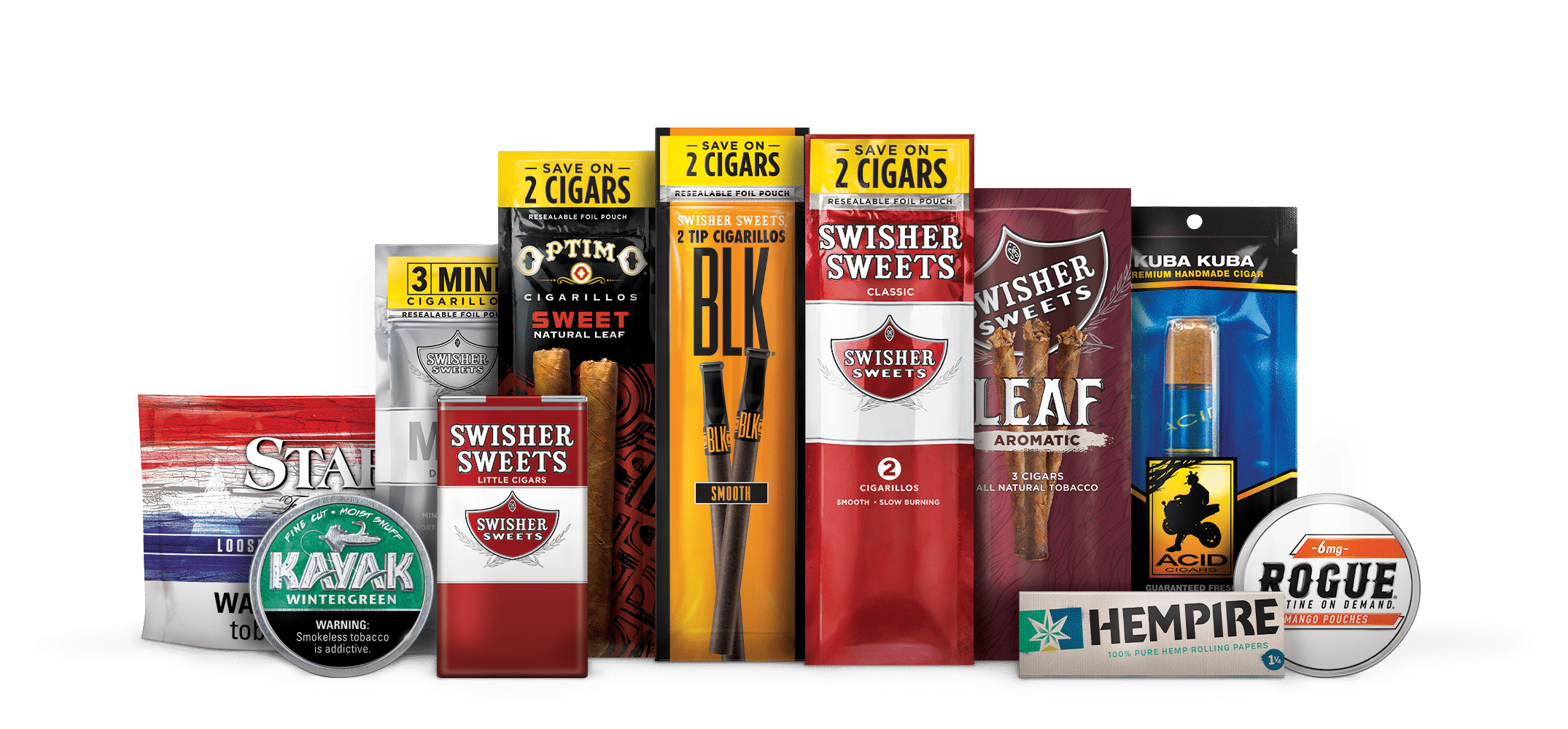 Swisher lineup of products