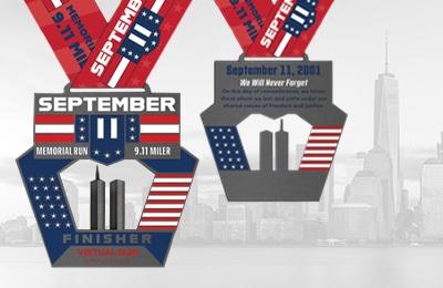 September 11 Memorial Run Badges