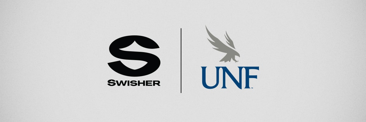 Swisher and UNF logos